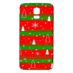 Xmas pattern Samsung Galaxy S5 Back Case (White)