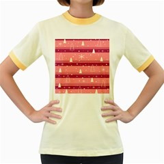 Pink Xmas Women s Fitted Ringer T-Shirts