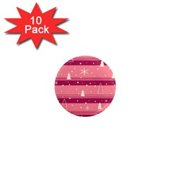 Pink Xmas 1  Mini Magnet (10 pack)