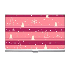 Pink Xmas Business Card Holders