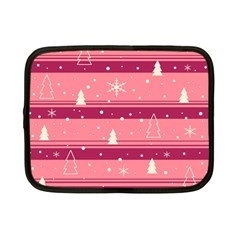 Pink Xmas Netbook Case (Small)