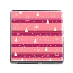 Pink Xmas Memory Card Reader (Square)