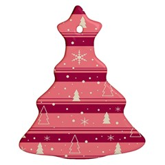 Pink Xmas Christmas Tree Ornament (2 Sides)