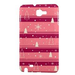Pink Xmas Samsung Galaxy Note 1 Hardshell Case