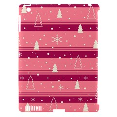 Pink Xmas Apple iPad 3/4 Hardshell Case (Compatible with Smart Cover)