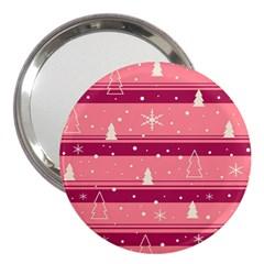 Pink Xmas 3  Handbag Mirrors