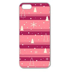Pink Xmas Apple Seamless iPhone 5 Case (Clear)