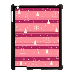 Pink Xmas Apple iPad 3/4 Case (Black)