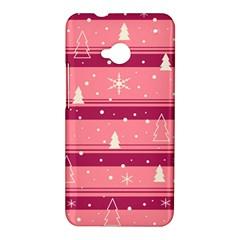 Pink Xmas HTC One M7 Hardshell Case