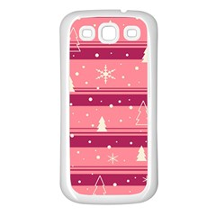 Pink Xmas Samsung Galaxy S3 Back Case (White)