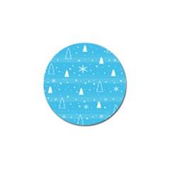 Blue Xmas Golf Ball Marker