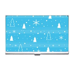 Blue Xmas Business Card Holders