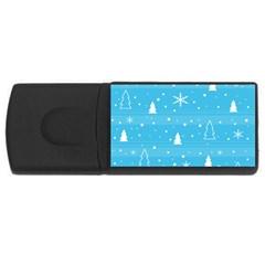 Blue Xmas USB Flash Drive Rectangular (4 GB)