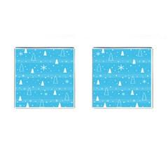 Blue Xmas Cufflinks (Square)