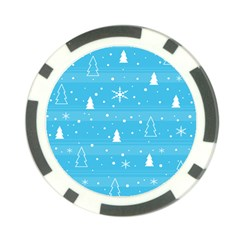 Blue Xmas Poker Chip Card Guards (10 pack)