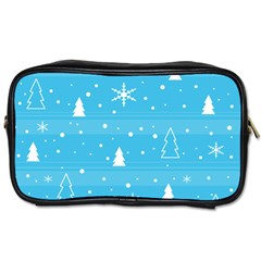 Blue Xmas Toiletries Bags