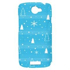 Blue Xmas HTC One S Hardshell Case