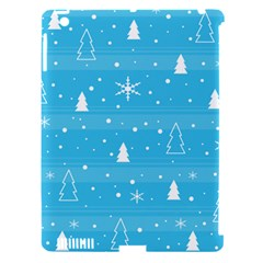 Blue Xmas Apple iPad 3/4 Hardshell Case (Compatible with Smart Cover)