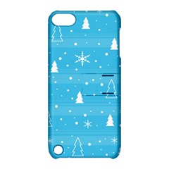 Blue Xmas Apple iPod Touch 5 Hardshell Case with Stand