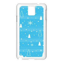 Blue Xmas Samsung Galaxy Note 3 N9005 Case (White)