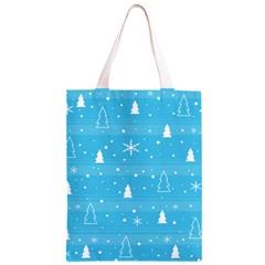 Blue Xmas Classic Light Tote Bag
