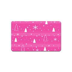 Magenta Xmas Magnet (name Card)