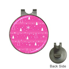 Magenta Xmas Hat Clips with Golf Markers