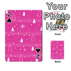 Magenta Xmas Playing Cards 54 Designs