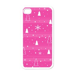 Magenta Xmas Apple iPhone 4 Case (White)