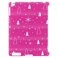 Magenta Xmas Apple iPad 2 Hardshell Case (Compatible with Smart Cover)