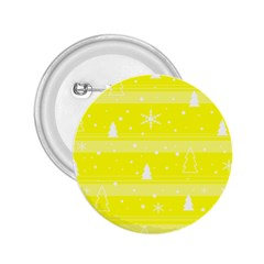 Yellow Xmas 2.25  Buttons