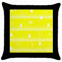 Yellow Xmas Throw Pillow Case (Black)