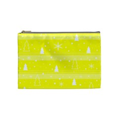 Yellow Xmas Cosmetic Bag (Medium)