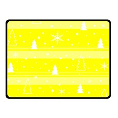 Yellow Xmas Fleece Blanket (Small)