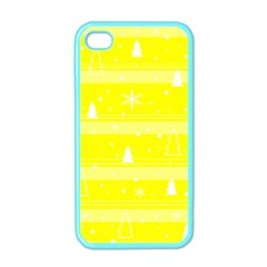 Yellow Xmas Apple iPhone 4 Case (Color)