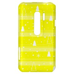 Yellow Xmas HTC Evo 3D Hardshell Case