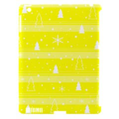 Yellow Xmas Apple iPad 3/4 Hardshell Case (Compatible with Smart Cover)