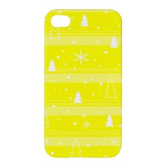 Yellow Xmas Apple iPhone 4/4S Premium Hardshell Case