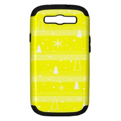 Yellow Xmas Samsung Galaxy S III Hardshell Case (PC+Silicone)