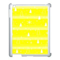 Yellow Xmas Apple iPad 3/4 Case (White)