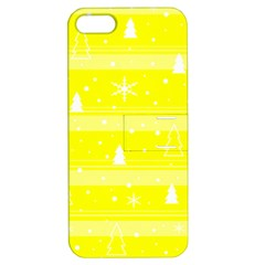Yellow Xmas Apple iPhone 5 Hardshell Case with Stand