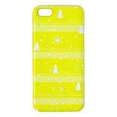 Yellow Xmas Apple iPhone 5 Premium Hardshell Case