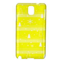 Yellow Xmas Samsung Galaxy Note 3 N9005 Hardshell Case