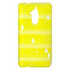 Yellow Xmas HTC One Max (T6) Hardshell Case