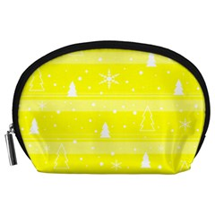 Yellow Xmas Accessory Pouches (Large)