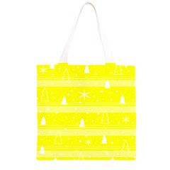 Yellow Xmas Grocery Light Tote Bag