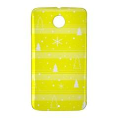 Yellow Xmas Nexus 6 Case (White)
