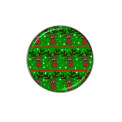 Reindeer pattern Hat Clip Ball Marker (4 pack)