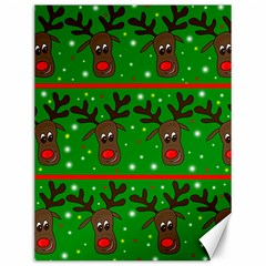 Reindeer pattern Canvas 12  x 16