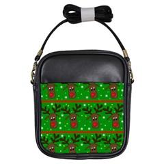 Reindeer pattern Girls Sling Bags